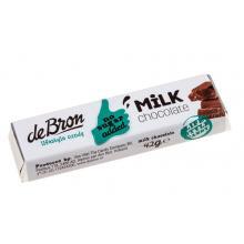 Baton de ciocolata cu lapte fara zahar cu indulcitori 42g
