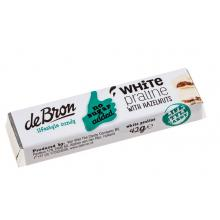 Baton de ciocolata alba cu alune fara zahar cu indulcitori 42g