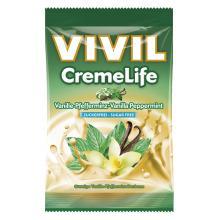 Bomboane cremoase Vivil Creme Life Vanilie si Menta fara zahar 110g