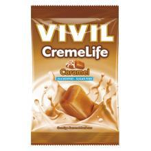 Bomboane cremoase Vivil Creme Life Caramel fara zahar 110g