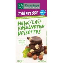 Ciocolata cu lapte si alune de padure fara zahar cu tagatoza tableta 85g