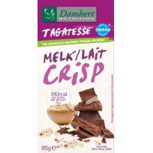 Ciocolata crocanta cu lapte fara zahar cu tagatoza tableta 85g