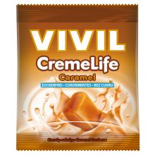 Bomboane cremoase Vivil Creme Life Caramel fara zahar 40g