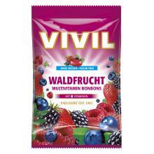 Bomboane Vivil Multivitamine Fructe de Padure fara zahar 60g