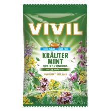 Bomboane Vivil Plante Naturale si Menta fara zahar 60g