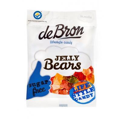 Jeleuri gumate cu aroma de fructe Jelly Bears fara zahar si fara gluten 90g