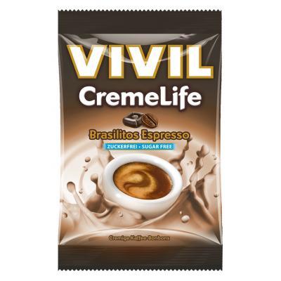 Bomboane cremoase Vivil Creme Life Brasilitos Espresso fara zahar 110g