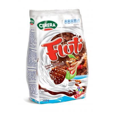 Fluti Fulgi din cereale crocante acoperiti cu ciocolata cu lapte cu 9 vitamine 250g