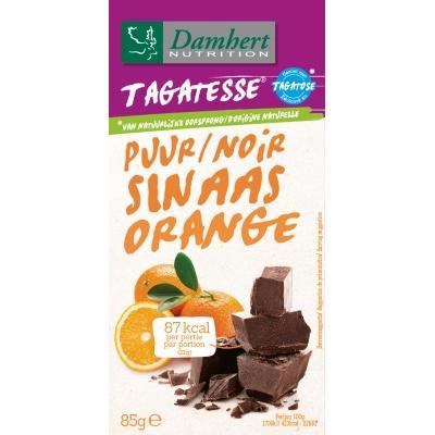 Ciocolata neagra cu portocale fara zahar cu tagatoza 85g