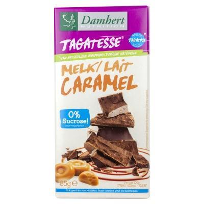 Ciocolata cu caramel fara zahar cu tagatoza tableta 85g