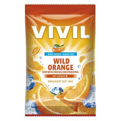 Bomboane Vivil Portocala Amara cu vitamina C fara zahar 80g