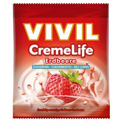 Bomboane cremoase Vivil Creme Life Capsuni fara zahar 40g